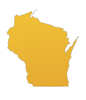 State of Wisconsin Map